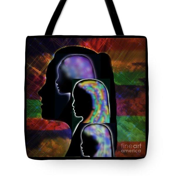 Generations Tote Bag by Diamante Lavendar