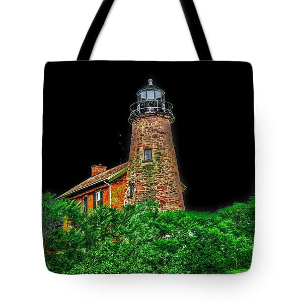 Genesee Lighthouse Tote Bag by William Norton