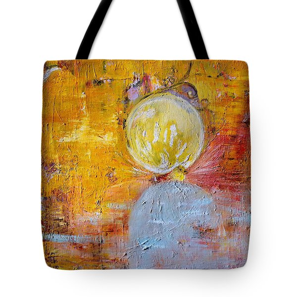 Tote Bag featuring the painting Genesis by Evelina Popilian