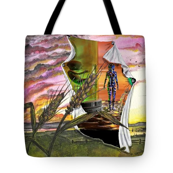 Tote Bag featuring the digital art Genetically Modified by Darren Cannell