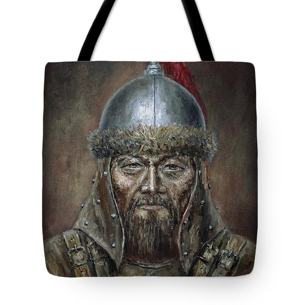 Genhis Khan Tote Bag by Arturas Slapsys