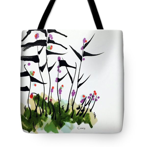 Gentle Grass Tote Bag