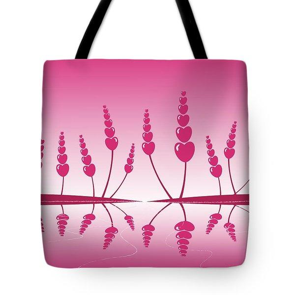 Gentle Hearts Tote Bag by Anastasiya Malakhova