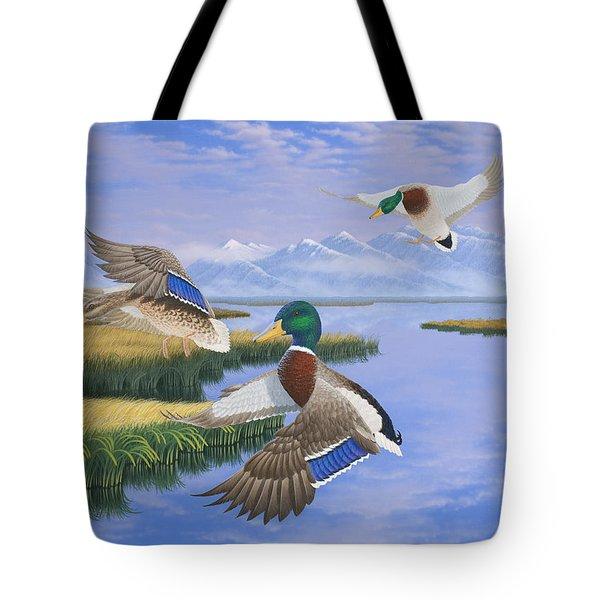Gentle Landing Tote Bag