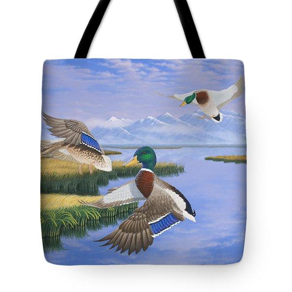 Gentle Landing Tote Bag