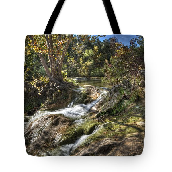 Tote Bag featuring the photograph Gentle Mountain Stream by Tamyra Ayles