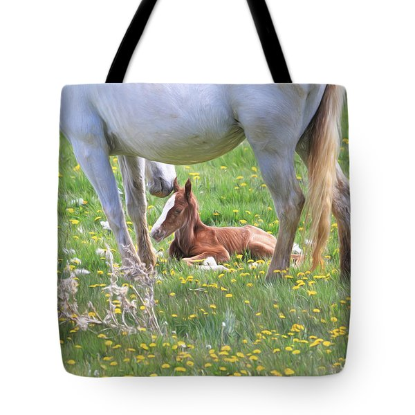 Gentle Nuzzle Tote Bag