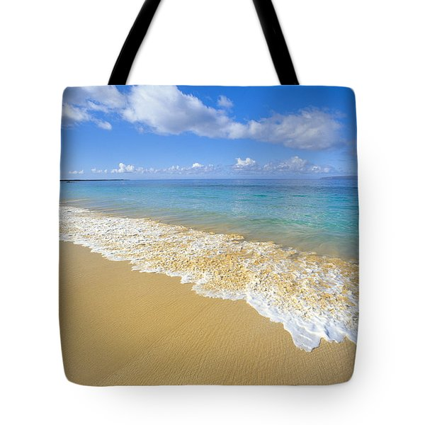 Gentle Waves Rolling Tote Bag by Carl Shaneff - Printscapes