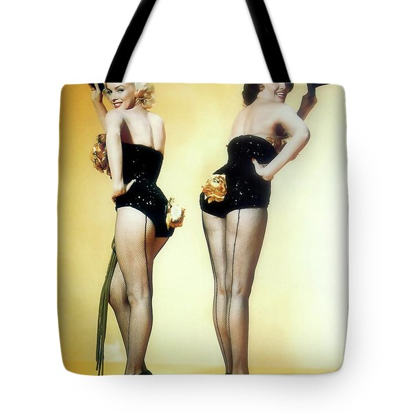 Tote Bag featuring the painting Gentlemen Prefer Blondes by R Muirhead Art