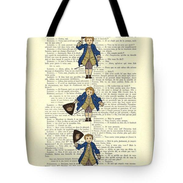 Gentlemen Taking A Bow Dressed As Napoleon Bonaparte Tote Bag