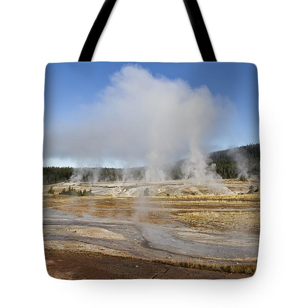Gently Steaming Tote Bag by Shirley Mitchell