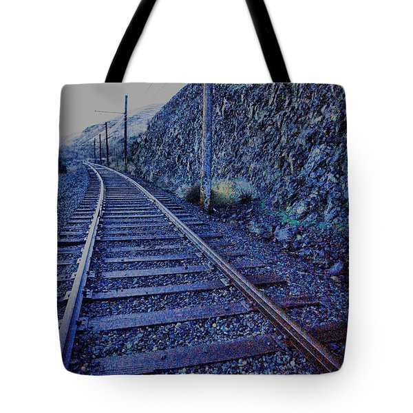 Tote Bag featuring the photograph Gently Winding Tracks by Jeff Swan