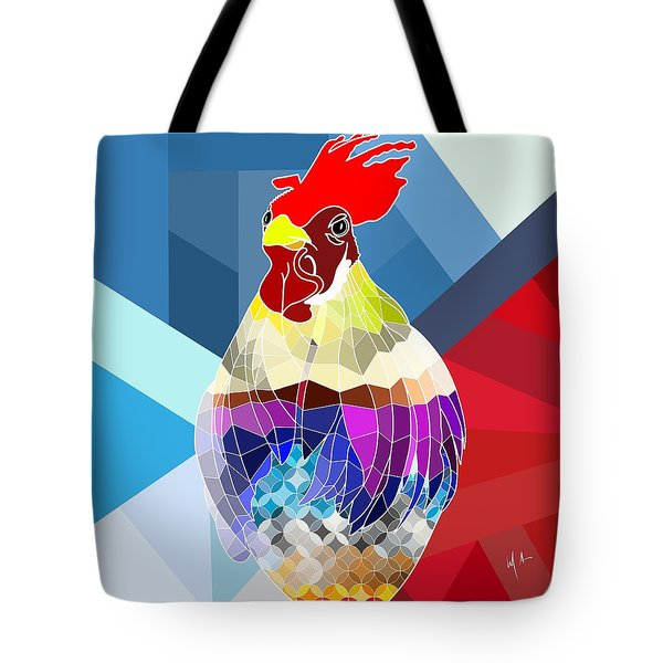 Tote Bag featuring the digital art Geo Doodle Doo by Mark Taylor