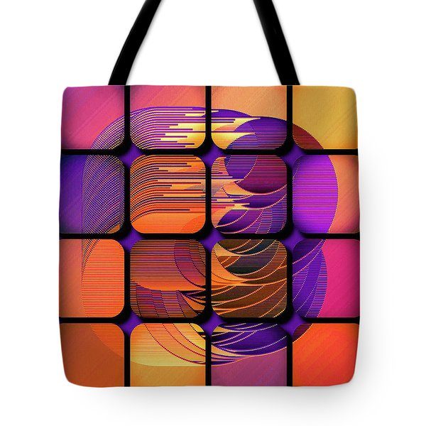 Tote Bag featuring the digital art Geo Electric by Susan Maxwell Schmidt