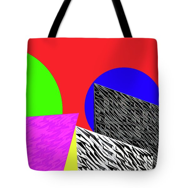 Geo Shapes 2 Tote Bag by Bruce Iorio