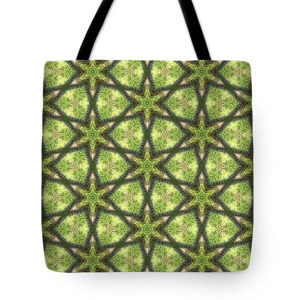 Geo Stars In Greens Tote Bag