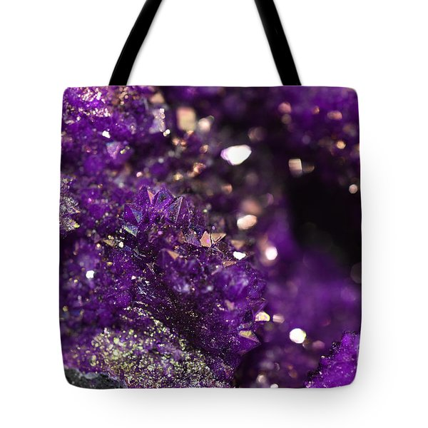 Geode Abstract Amethyst Tote Bag