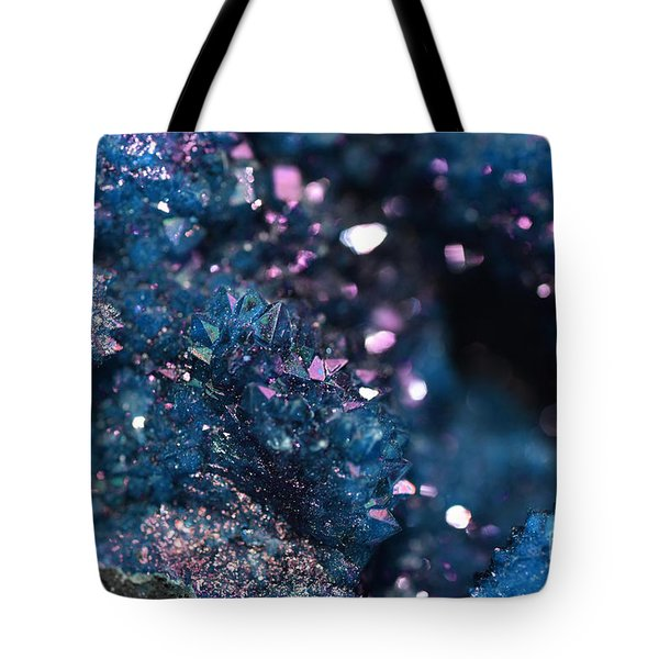 Geode Abstract Teal Tote Bag