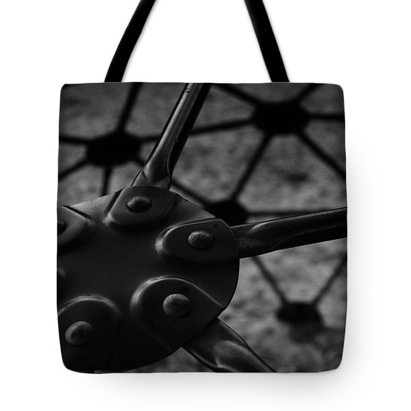 Tote Bag featuring the photograph Geodome Climber 2 by Richard Rizzo
