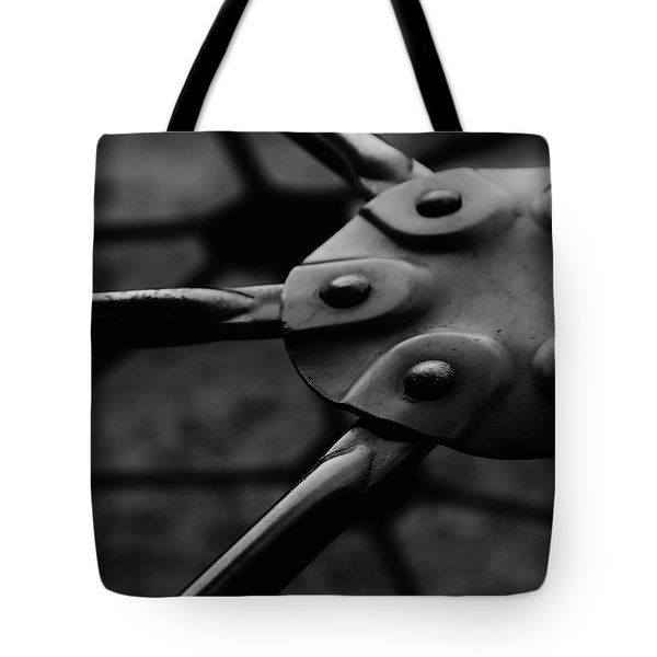 Tote Bag featuring the photograph Geodome Climber by Richard Rizzo