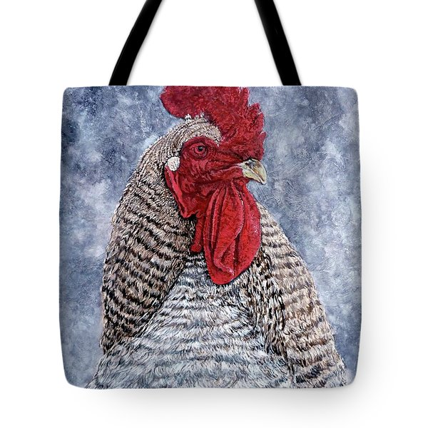 Tote Bag featuring the painting Geoff by Tom Roderick