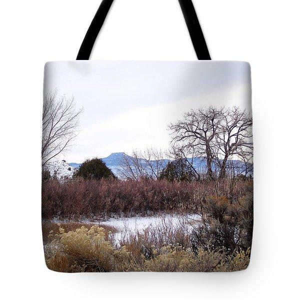 Geogia O'keefe's Pedernal Mountain Tote Bag