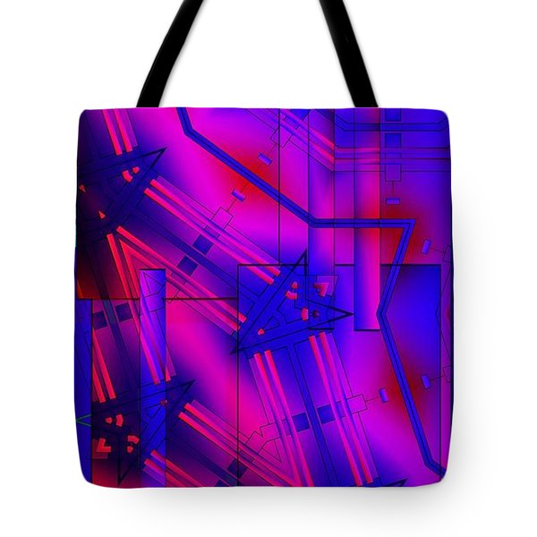 Geometric 2 Tote Bag by Ron Bissett