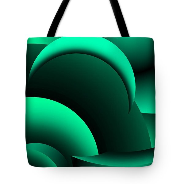 Geometric Abstract In Green Tote Bag by David Lane