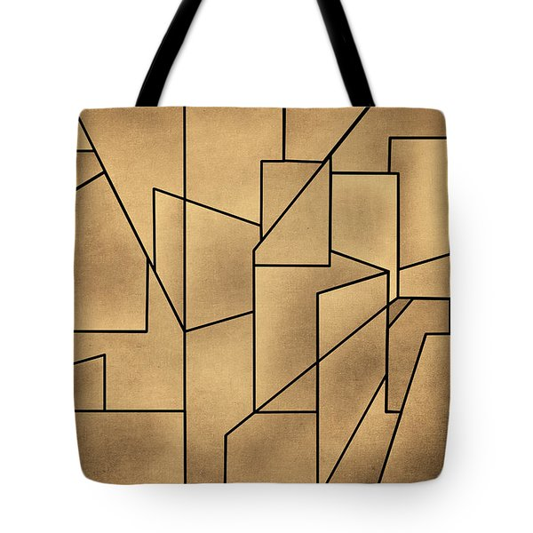 Geometric Abstraction IIi Toned Tote Bag