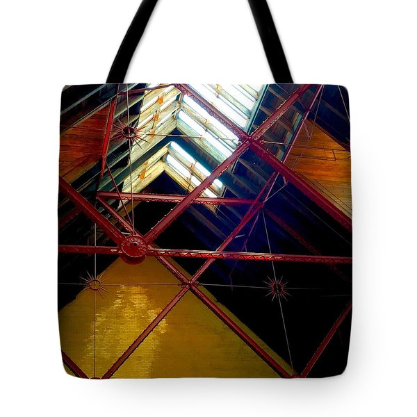 Geometric And Suns  Tote Bag