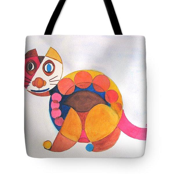Geometric Cat Tote Bag