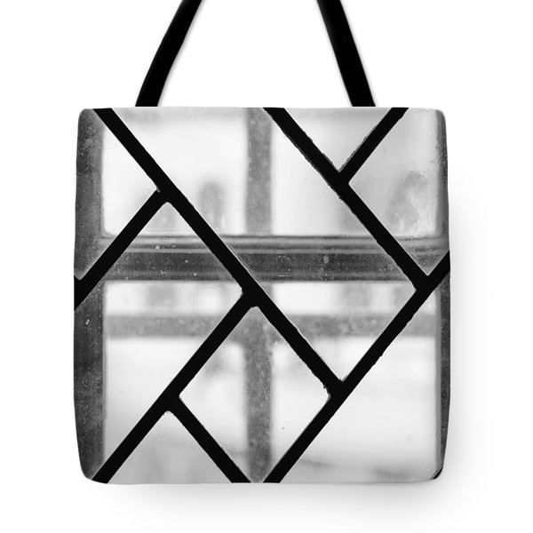 Tote Bag featuring the photograph Geometric Glasswork by Christi Kraft