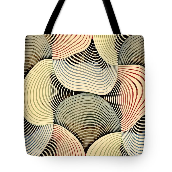 Tote Bag featuring the digital art Geometric Gymnastic - C69s08b by Variance Collections