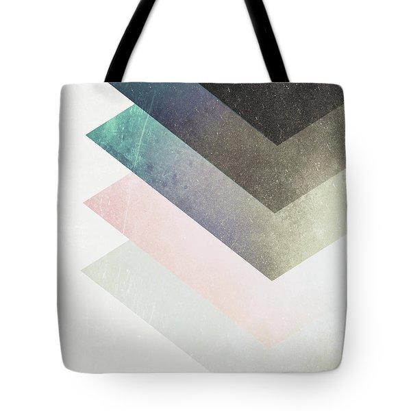 Geometric Layers Tote Bag