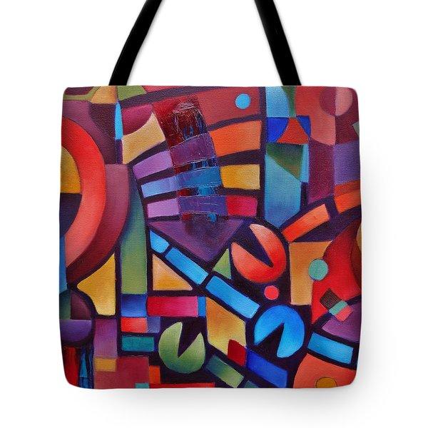 Geometric Music Tote Bag