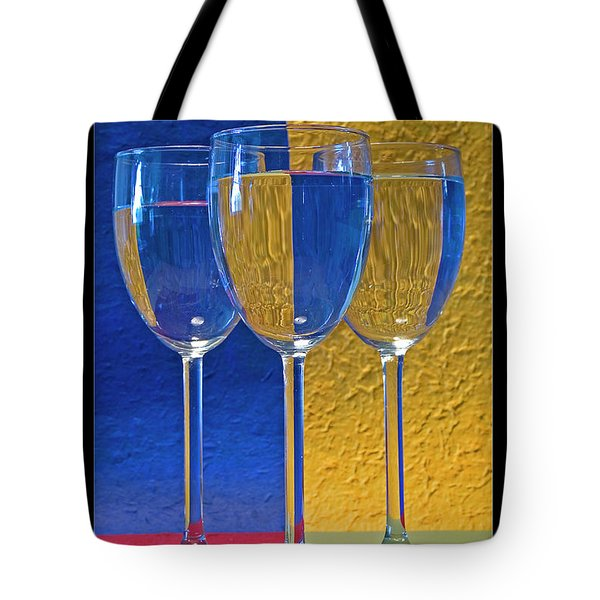 Geometrical Shapes, Colours And Glasses Tote Bag