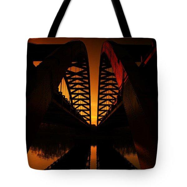 Geometry In Steel Tote Bag