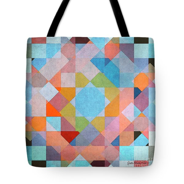 Tote Bag featuring the digital art Geometry by Jutta Maria Pusl