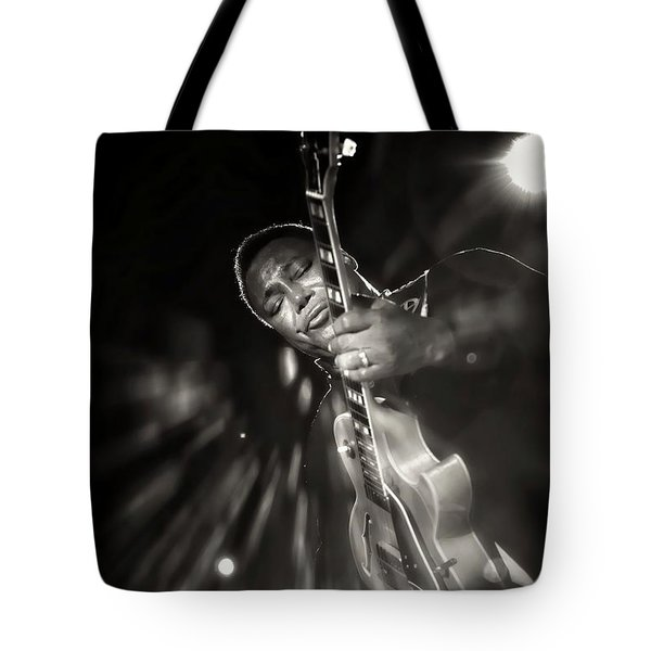 George Benson Black And White Tote Bag