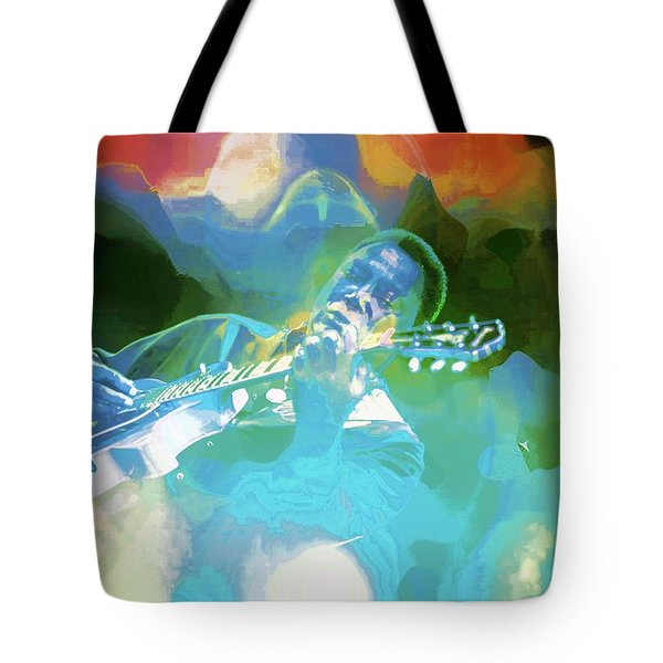 George Benson, Watercolor Tote Bag