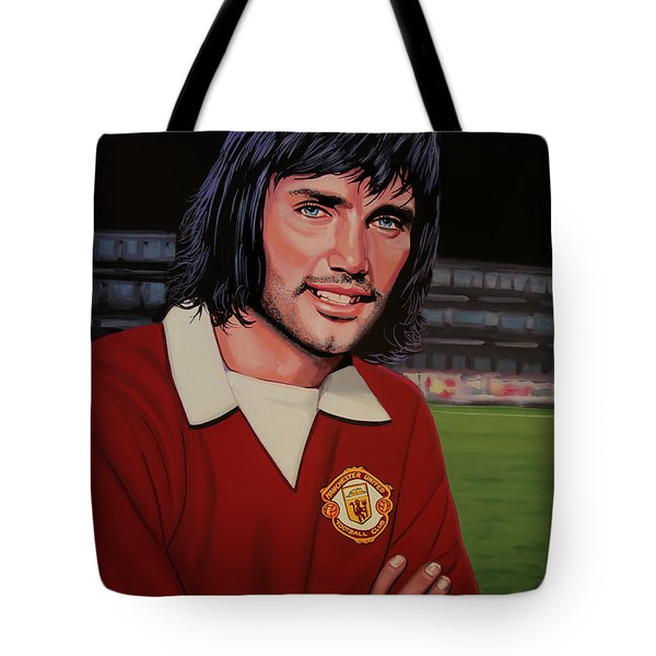George Best Painting Tote Bag