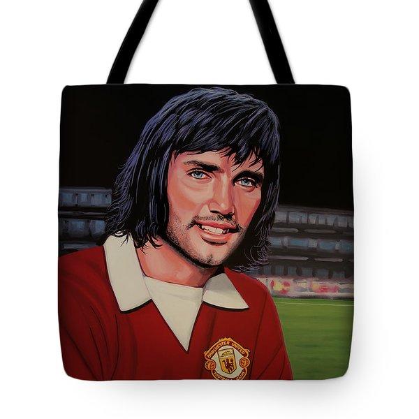 George Best Painting Tote Bag by Paul Meijering