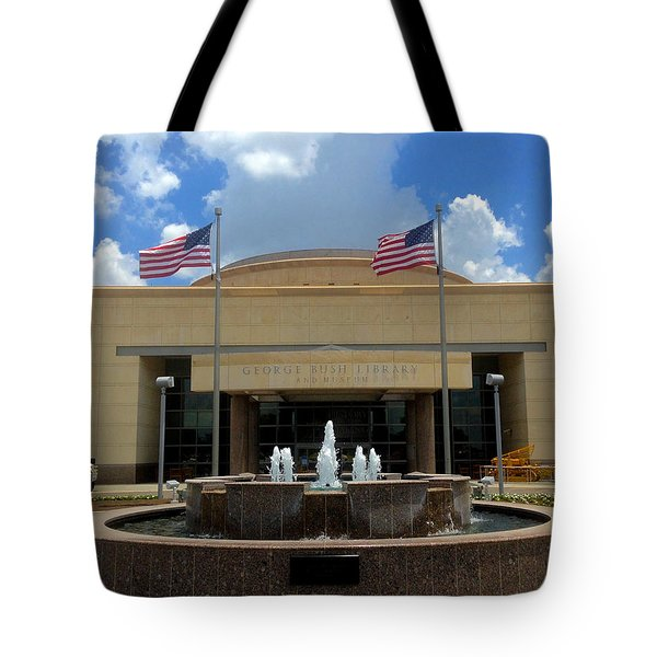 George Bush Library And Museum Tote Bag by Art Spectrum