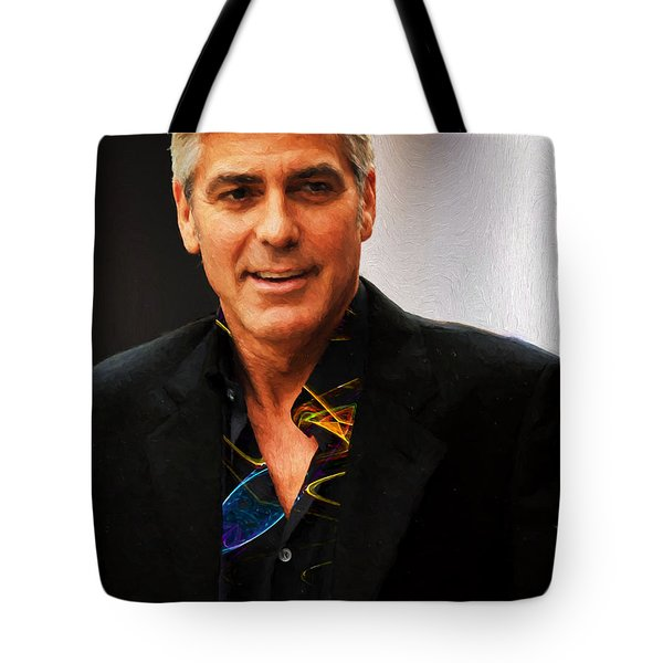 George Clooney Painting Tote Bag