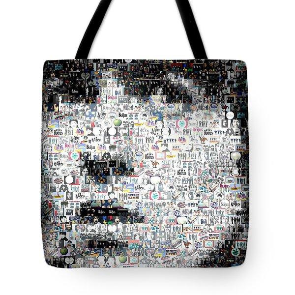 George Harrison Mosaic Tote Bag by Paul Van Scott