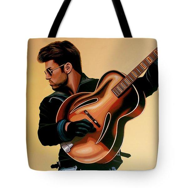 George Michael Painting Tote Bag
