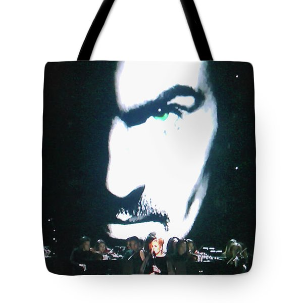 Tote Bag featuring the photograph George Michael's Eye Appeal by Toni Hopper
