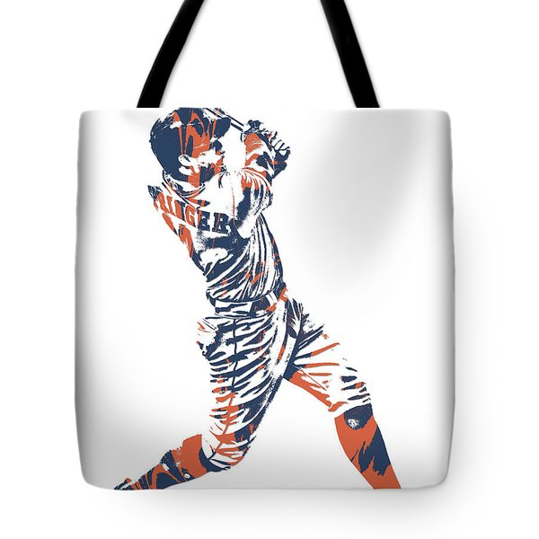 George Springer Houston Astros Pixel Art 11 Tote Bag
