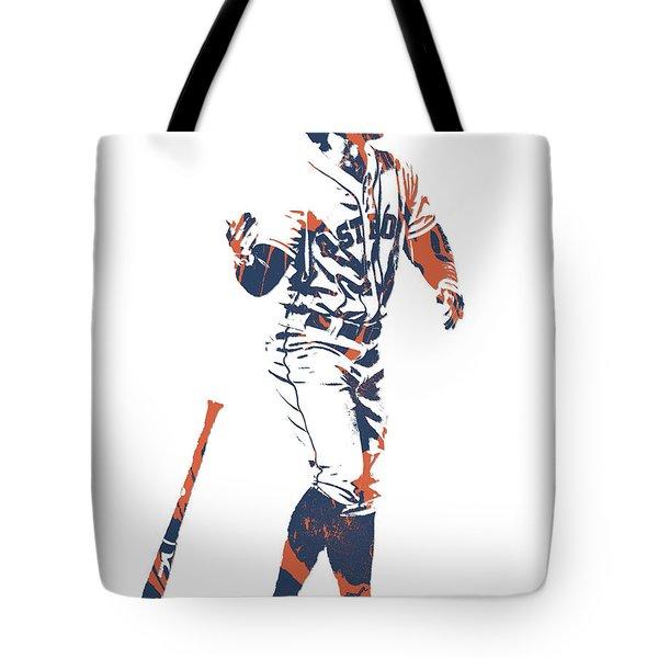 George Springer Houston Astros Pixel Art 12 Tote Bag