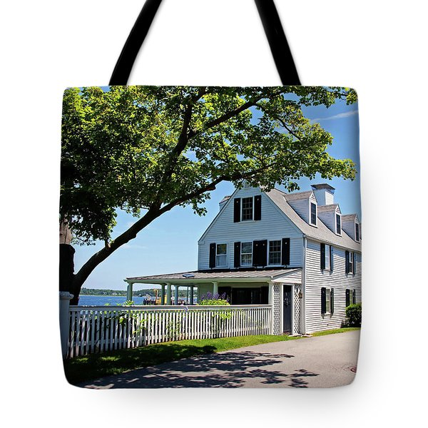Tote Bag featuring the photograph George Walton House In Newcastle by Wayne Marshall Chase